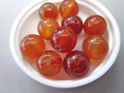 Red agate 12mm Round Gemstone bead