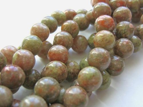 Autumn jasper 9mm round gemstone beads