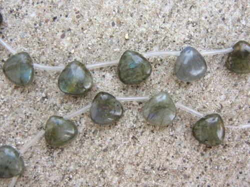 Labradorite teardrop gemstone beads