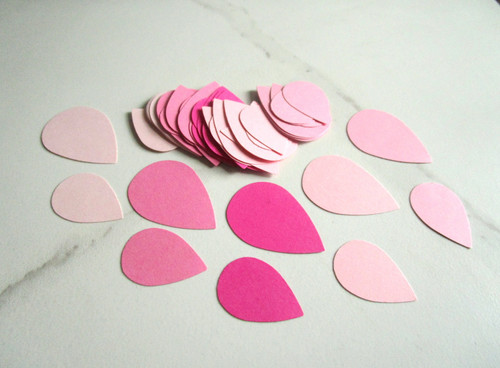Raindrop Die Cut Pink Mixture Confetti Rain Drop Cut Out Punches Scrapbooking Table Scatter 50pc