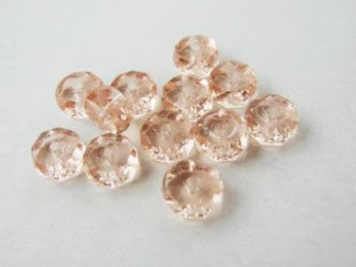 Pink 8mm faceted rondelle Czech glass beads
