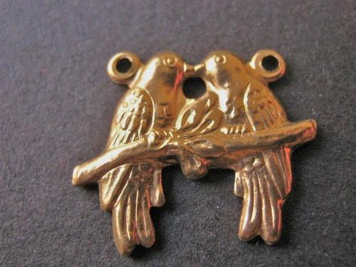 Brass love bird connector 19x15mm