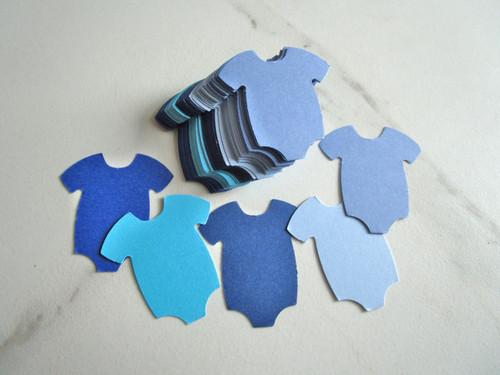 Blue mix 1.5 inch baby bodysuit die cuts