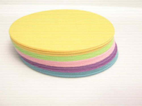 60pc Circle Die Cut 2.5 Inch Round Cut Outs Purple Blue Yellow Green Pink Cardstock Paper Circles Ready to Ship