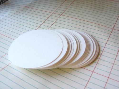 White circle die cut 2.5 inch