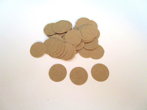 Confetti Circle Die Cuts 5/8 Inch Kraft Brown 65lb Cardstock Paper