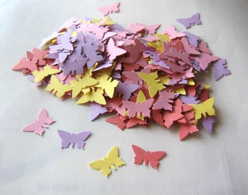 Butterfly Confetti 5/8 inch Die Cut Pink Orange Yellow Purple Scrapbook