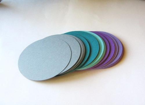 Purple gray teal blue 2.5 inch circle die cuts