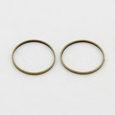 Antique Bronze 12mm Closed Jump Rings Link