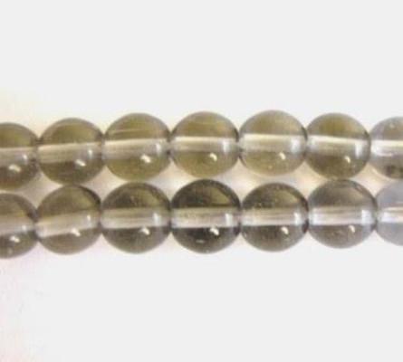 Gray 4mm round glass bead
