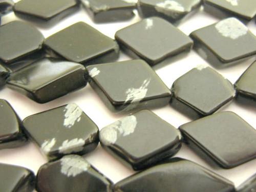Snowflake obsidian diamond gemstone beads