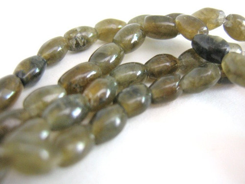 Oval Labradorite gemstone bead