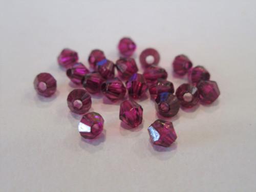 Transparent purple 4mm bicone acrylic beads