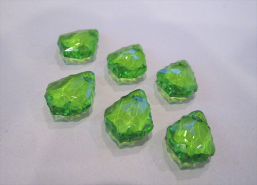 Faceted teardrop acrylic beads