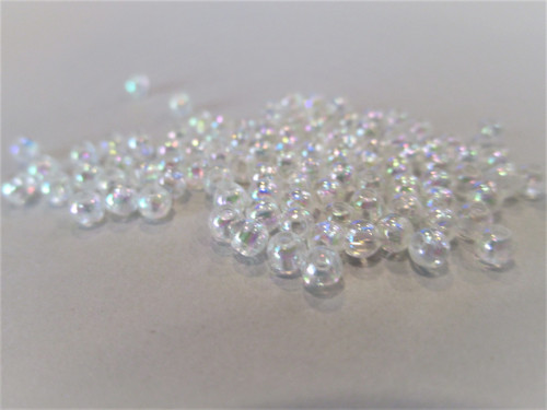 Clear ab 3mm round acrylic plastic beads
