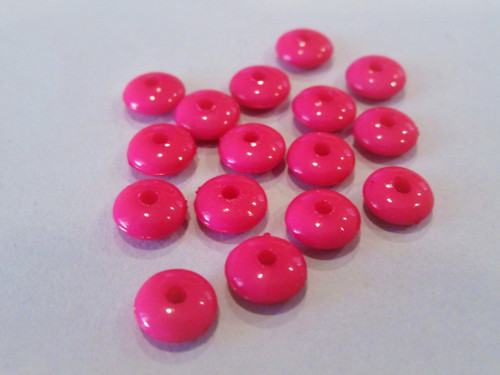 Opaque pink 8mm rondelle acrylic beads