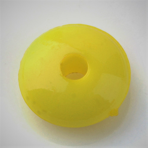 Opaque yellow 8mm rondelle acrylic beads