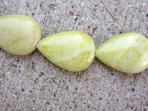 Peridot jasper teardrop gemstone beads