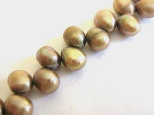 Iris gold 6mm potato freshwater pearl beads
