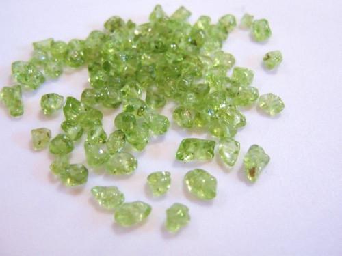 Peridot small chip gemstone beads