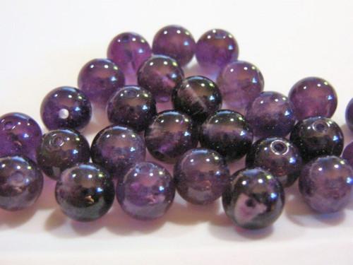 Amethyst 8.5mm round gemstone beads