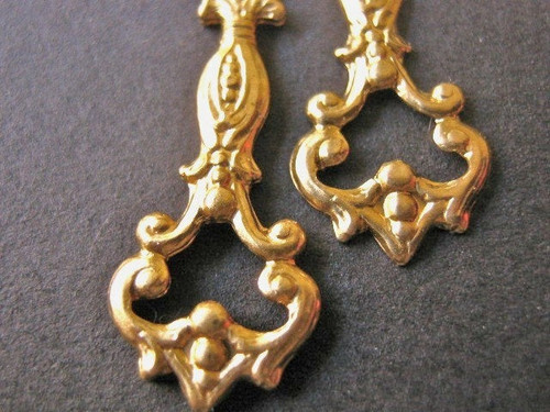 Brass victorian drop 10x25mm chandelier dangle charms