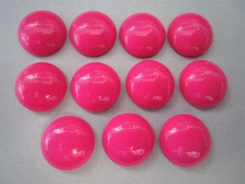 Opaque Pink 15mm Round Cabochon Vintage Lucite