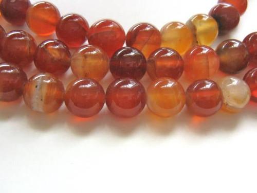 Carnelian 8mm Round Gemstone Beads