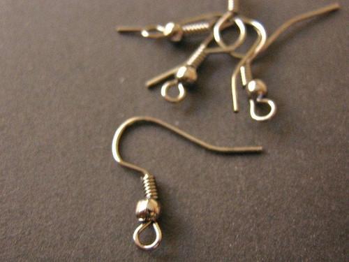 Fish Hook Ear Wires 18mm Gun Metal Finish Earring Hook