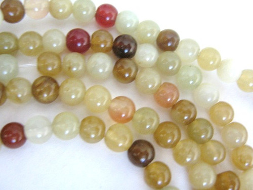 Rainbos soocho jade 6.5mm round gemstone beads