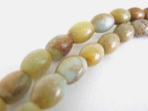 aqua terra jasper 8x6mm oval gemstone bead