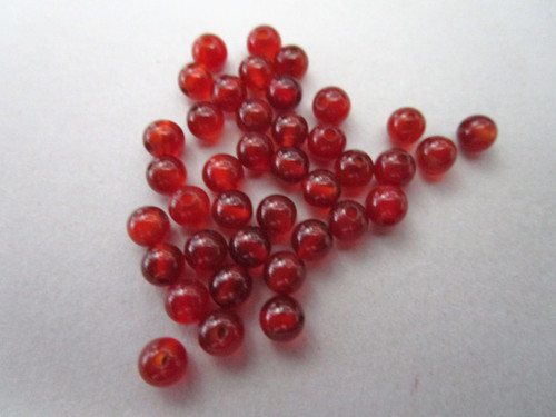Carnelian 4mm Round Gemstone Bead