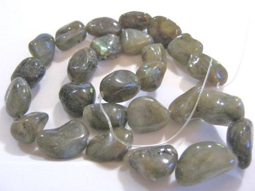Labradorite medium nugget gemstone bead
