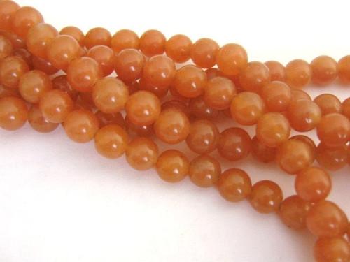 Red Aventurine 8mm Round Beads Gemstone