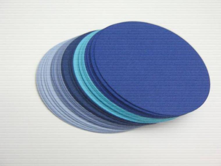 blue 2.5 inch circle die cut paper cardstock