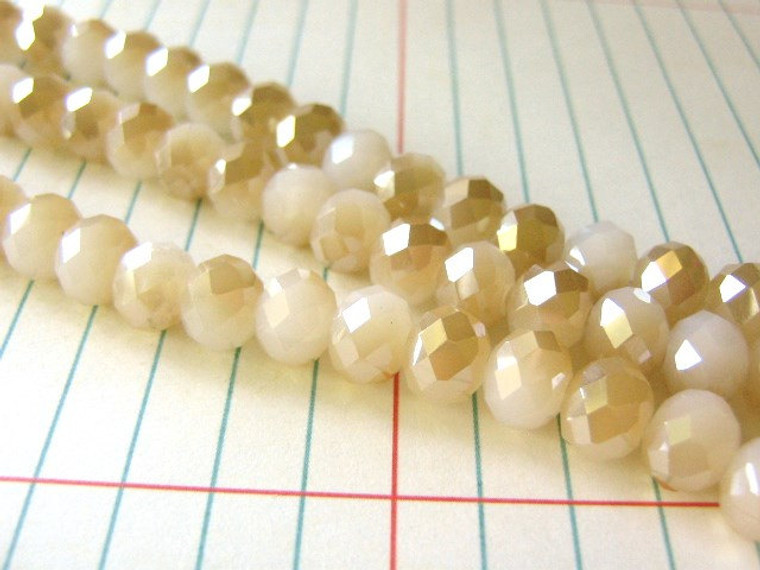 8x6mm faceted rondelle glass beads