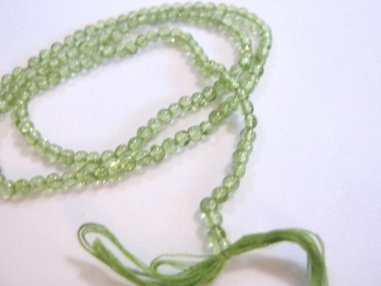 Peridot Beads 3mm Round Green Gemstone 78pc