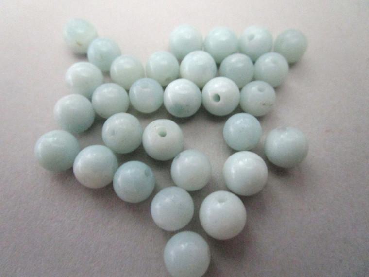Amazonite 6mm round gemstone bead