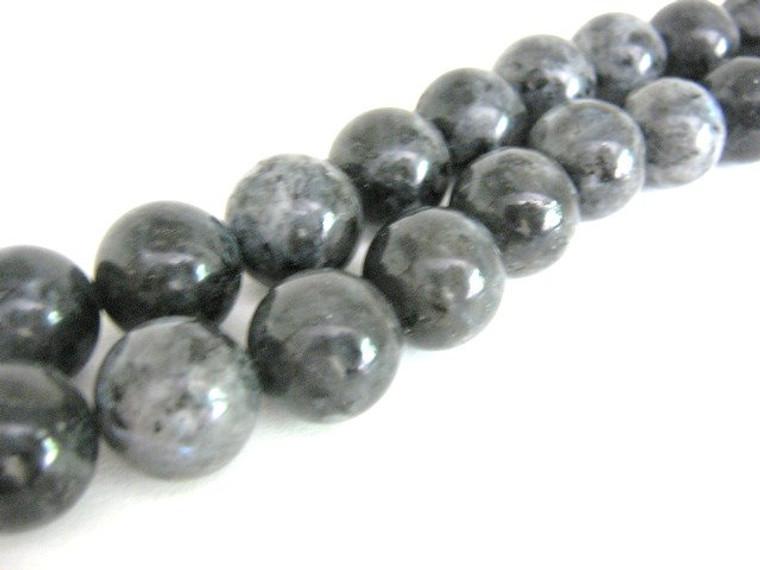 Larvikite 10mm round gemstone beads