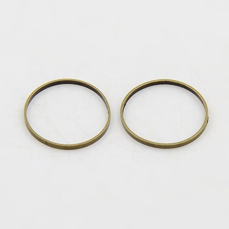 Antique Bronze Finish 12mm Closed Jump Rings Connector Links Jewelry Findings
