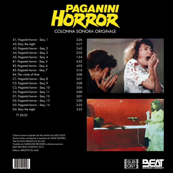 VINCE TEMPERA: Paganini Horror (Color Vinyl) 2LP