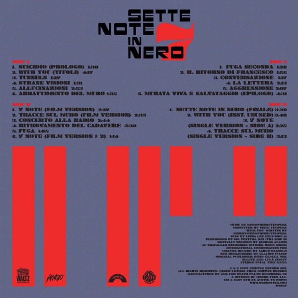 FRIZZI/BIXIO/TEMPERA: Sette Note In Nero 2LP