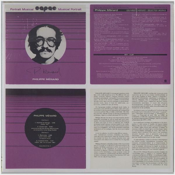 PHILIPPE MENARD/SERGE RUSTIN: Contes Électroniques (En Couleurs), CAPAC Musical Portrait CD