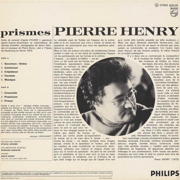 PIERRE HENRY Prismes CD-R