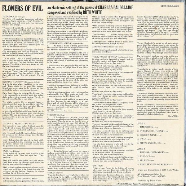 RUTH WHITE Flowers of Evil CD-R