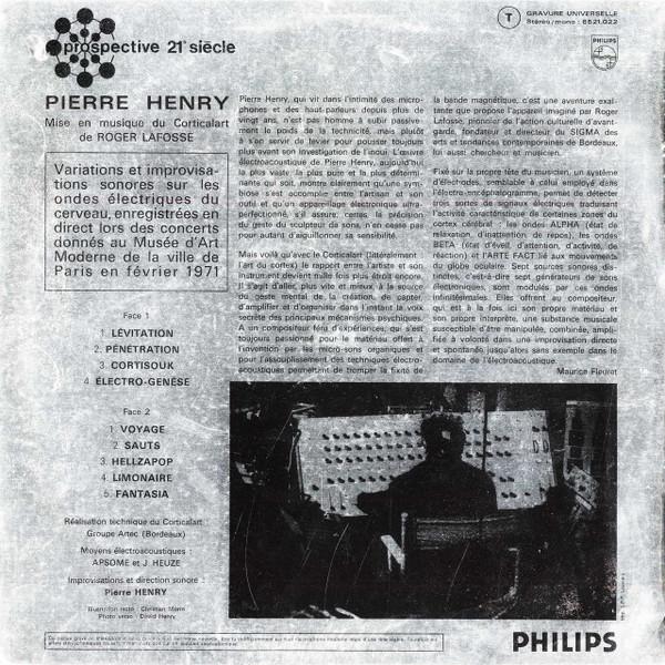 PIERRE HENRY Mise en Musique du Corticalart CD-R