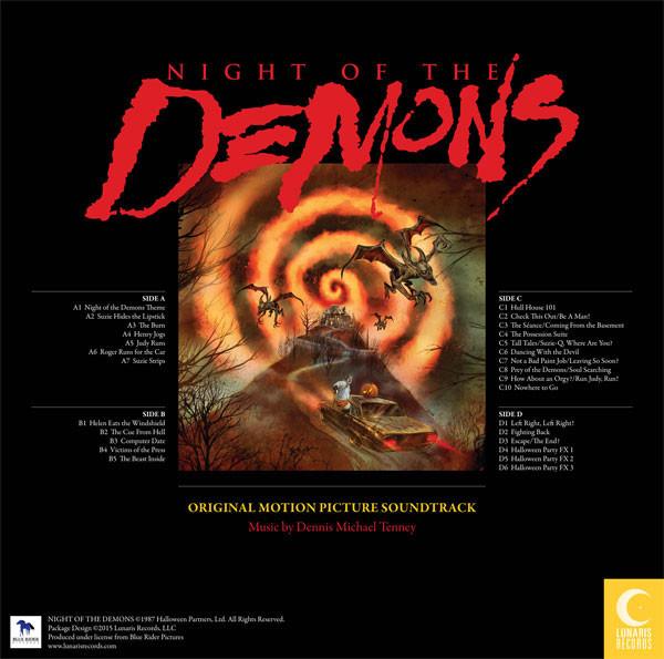 DENNIS MICHAEL TENNEY Night Of The Demons (Original 1988 Motion Picture Soundtrack) 2LP