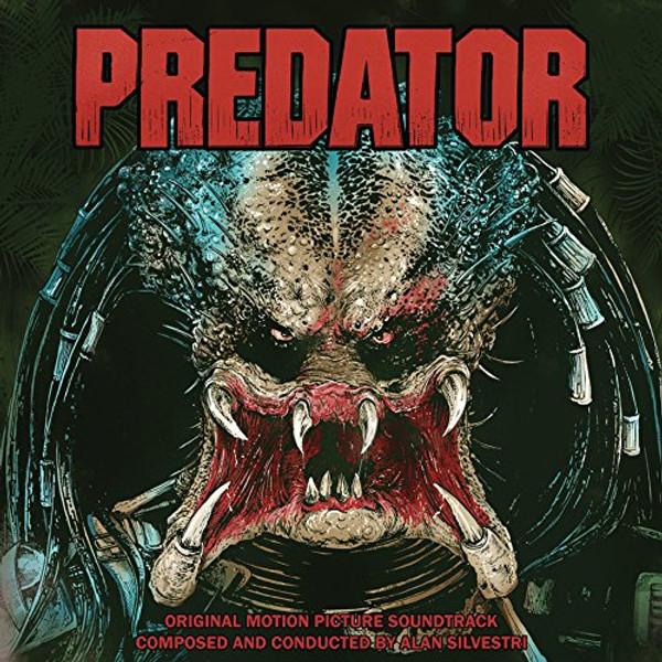 """ALAN SILVESTRI: Predator Soundtrack Limited Blood Red & """"Predator Dreads"""" Blue Splatter Edition 2LP"""