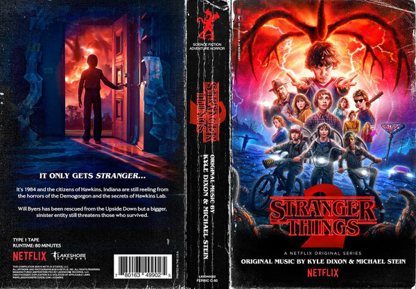 KYLE DIXON & MICHAEL STEIN: Stranger Things 2 (A Netflix Original Series Soundtrack) Cassette