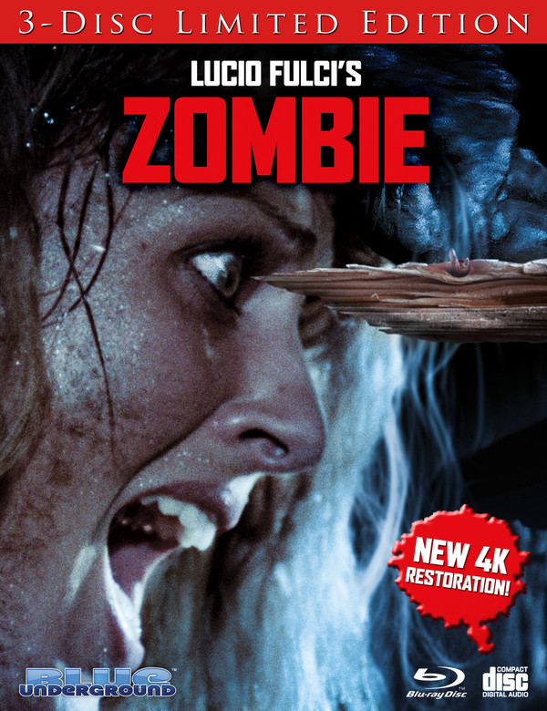 Zombie Limited Edition Cover B Splinter Blu Ray Two Headed Dog